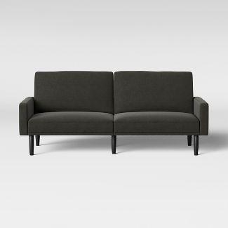 Futon Sofa With Arms Dark Gray - Room Essentials™