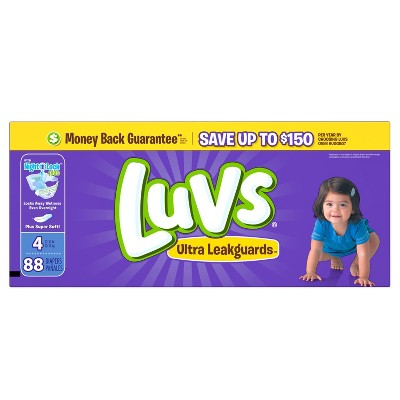 Luvs Diapers Big Pack Size 4 88 ct