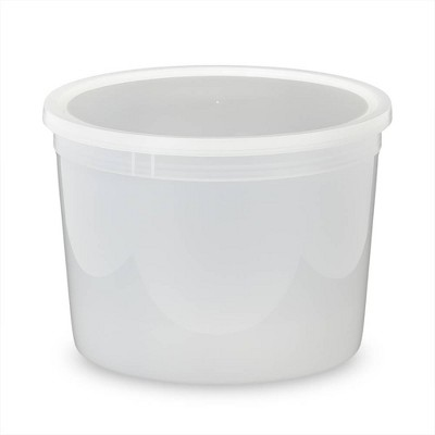 ePackageSupply 64 oz. Food Grade Round Containers with Double Seal Lids