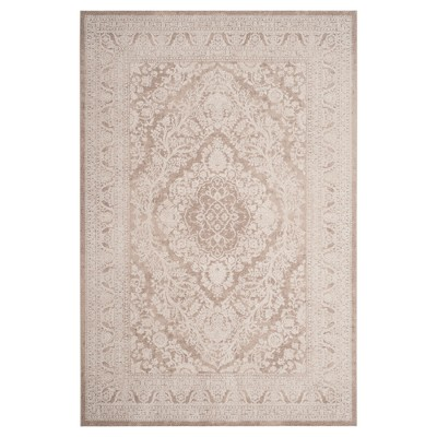 Beige Medallion Loomed Area Rug 5'1 X7'6  - Safavieh