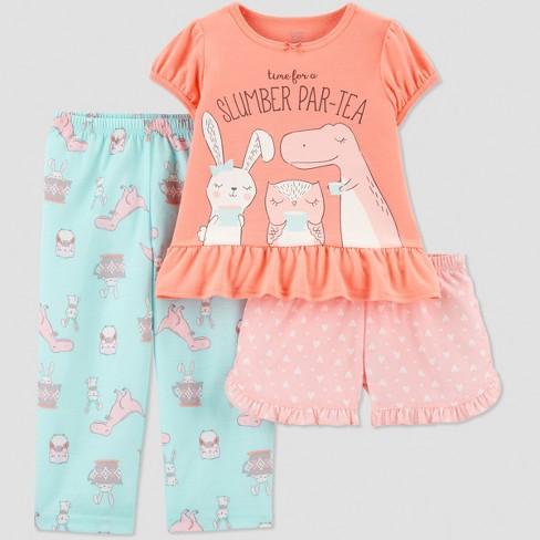 Toddler Girls  3pc Animal Tea Party Pajama Set -...   Target 32f876f35