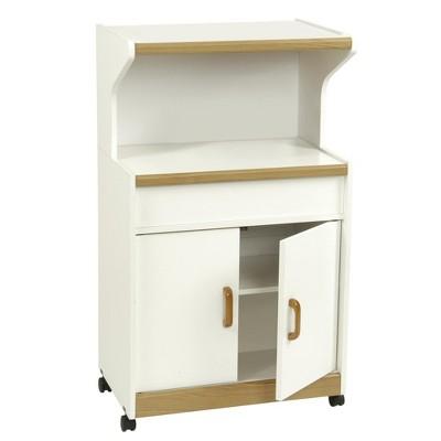 Cumberland Microwave Cart with Shelf - Room & Joy