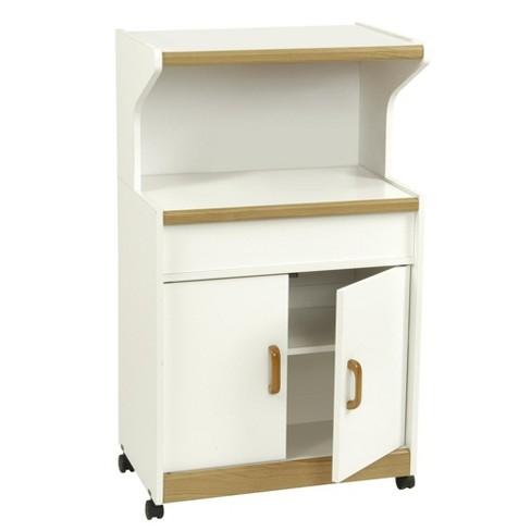 Cumberland Microwave Cart with Shelf - Room & Joy - image 1 of 4