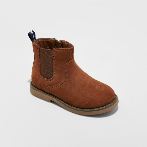 Toddler Boys' Breck Casual Chelsea Boots - Cat & Jack™ Chestnut 10 - image 1 of 3