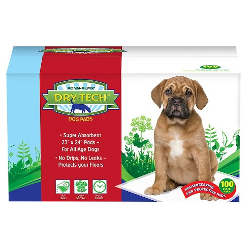 Penn-Plax Dry-Tech Housebreaking Floor Protection Pads for Dogs - 100 ct - image 1 of 1