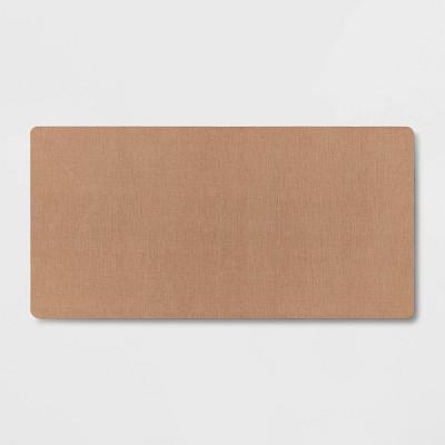 "40"" x 20"" Neoprene Comfort Kitchen Rug Brown - Threshold™"