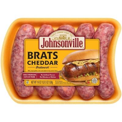 Johnsonville Cheddar Bratwurst - 19oz/5ct