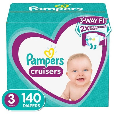 Pampers Cruisers Disposable Diapers Enormous Pack - Size 3 (140ct)