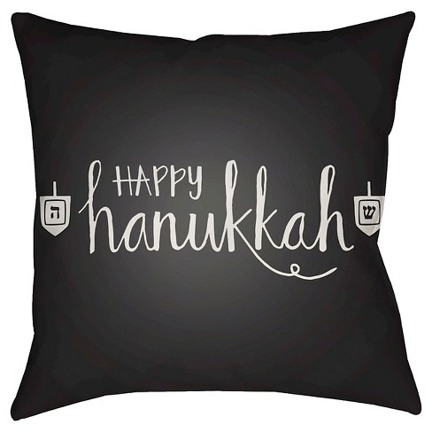 "Happy Hannukah Throw Pillow 18""x18"" - Surya - image 1 of 1"