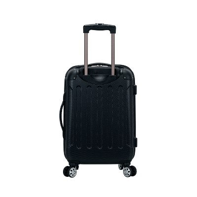 Rockland Sonic 20  Expandable Hardside Carry On Suitcase - Black