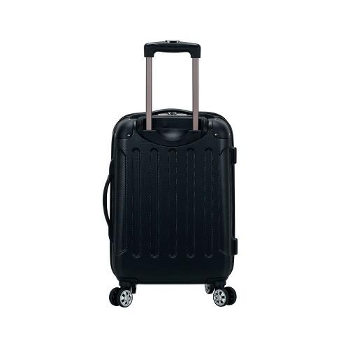 "Rockland Sonic 20"" Expandable Hardside Carry On Suitcase - Black - image 1 of 4"