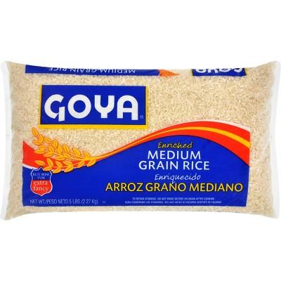 Goya Enriched Medium Grain White Rice - 5lbs