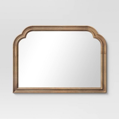 "36"" x 26"" French Country Mantle Wood Mirror Natural - Threshold™"