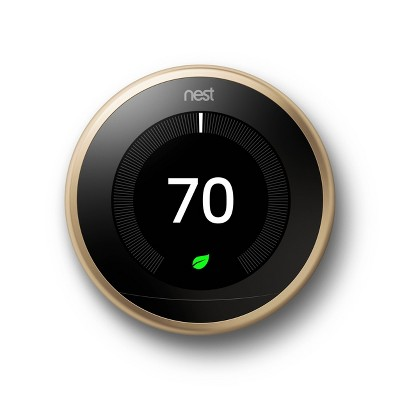 Google Nest Learning Thermostat Brass