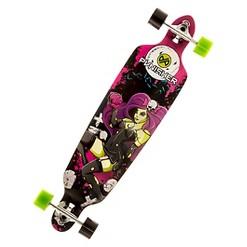 """Punisher Skateboards Zombie 40"""" Longboard Skateboard, Adult Unisex, Purple"""
