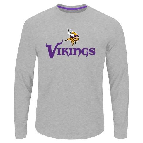 461f5d925 Minnesota Vikings Men s Big   Tall Long Sleeve Performance T-Shirt - 5XL    Target