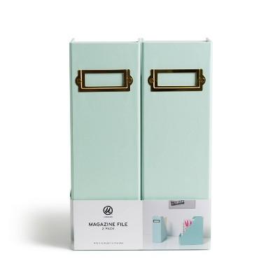 U Brands 2pk Paperboard Magazine File Holder - Mint