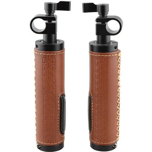 CAMVATE 15mm Rod Clamp Leather Handle Grip for DSLR Camera Rod System, 2-Pack - image 1 of 4