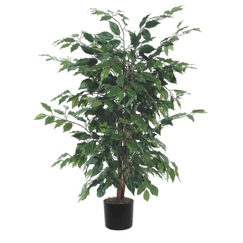 "Artificial Ficus Bush - Green (4"") - image 1 of 3"