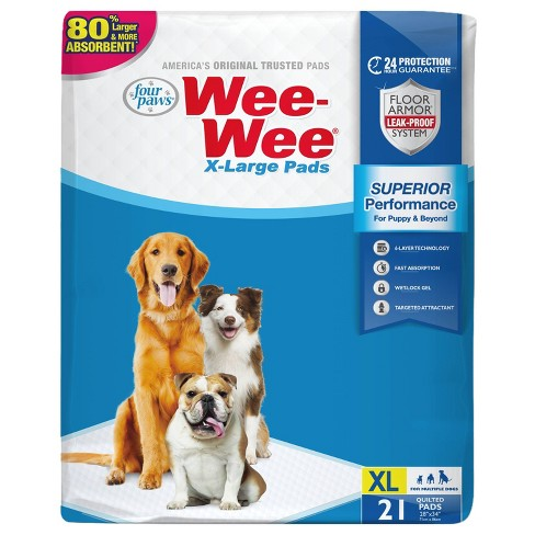 Four Paws Wee-Wee Dog Pads - 21ct - XL - image 1 of 4