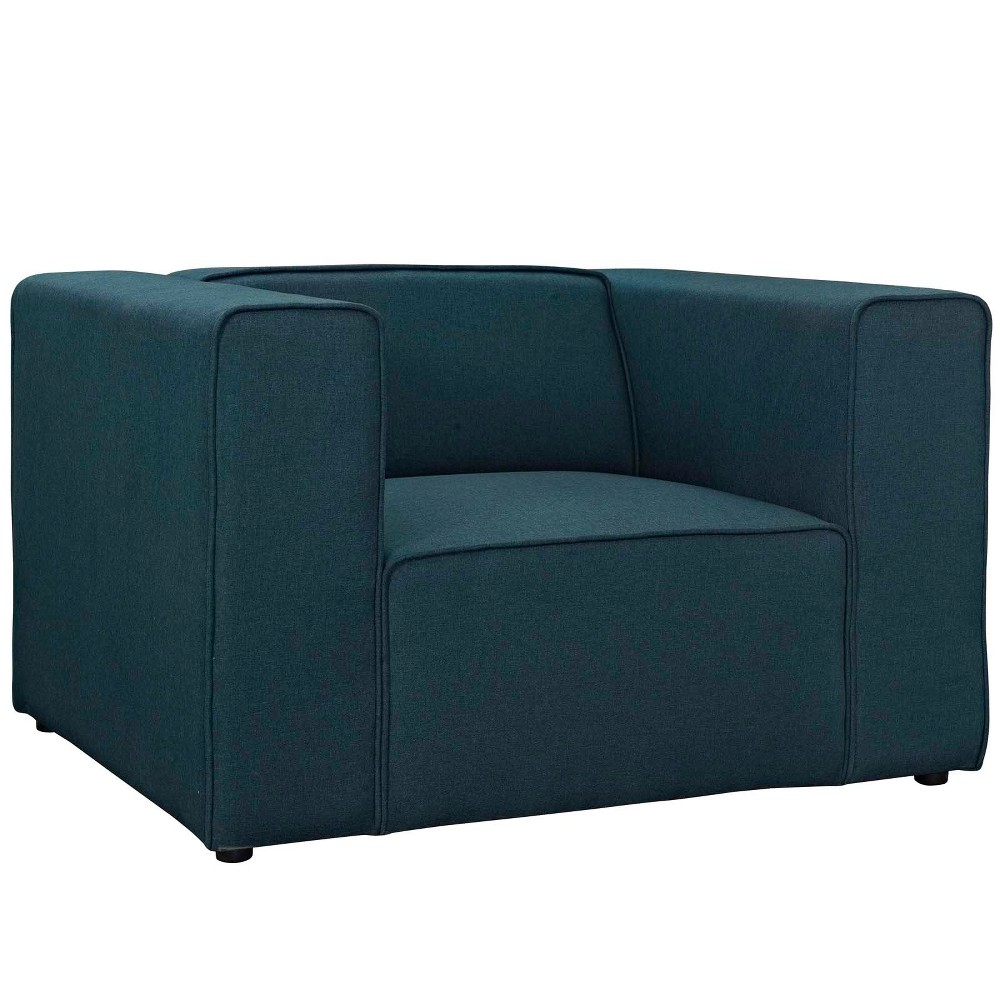 Mingle Upholstered Fabric Armchair Blue - Modway