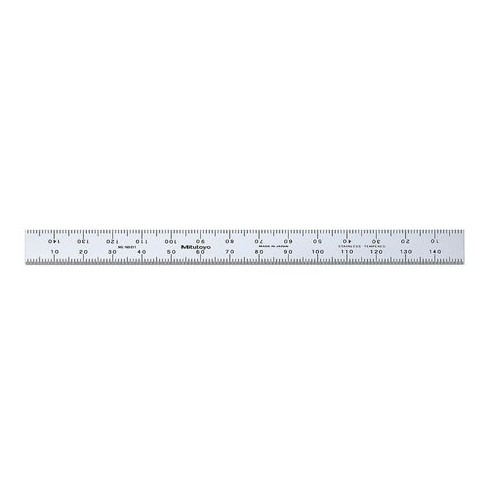 MITUTOYO 182-211 Flexible Rule,SS,150 x 12.7mm,1mm,0.5mm - image 1 of 1
