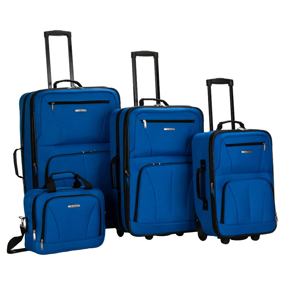 Image of Rockland Journey 4pc Luggage Set - Blue