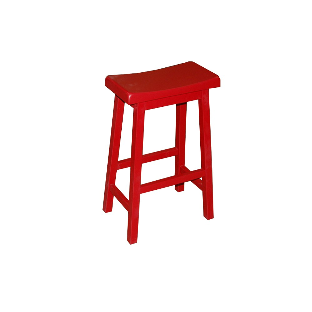 "Image of ""24"""" Arizona Saddle Stool Red - Buylateral"""