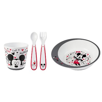 NUK Disney Mickey Mouse Tableware Set - 4pc