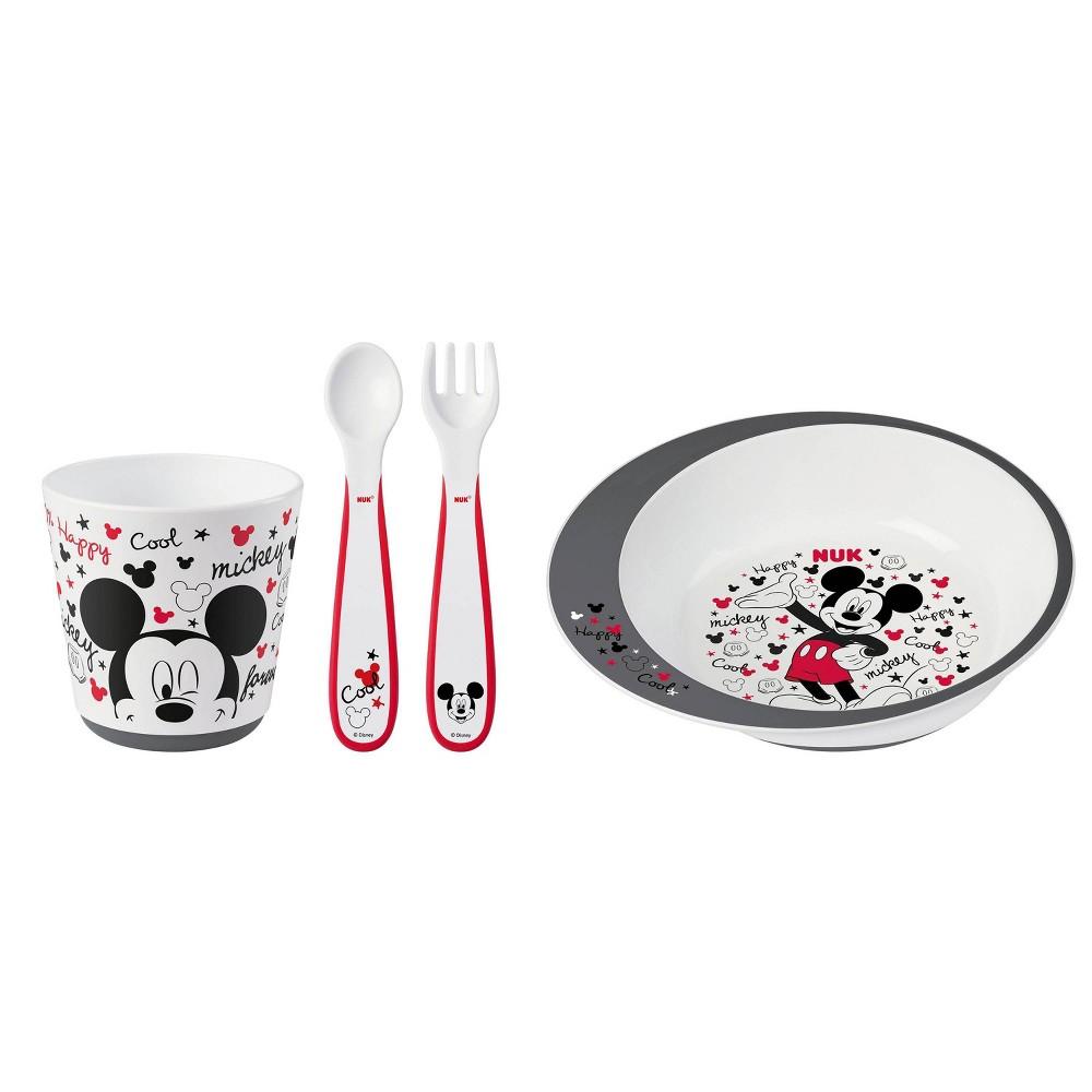 Image of NUK Disney Mickey Mouse Tableware Set - 4pc
