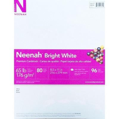 Neenah Bright White Cardstock, 65 lb., 8-1/2 x 11 in, pk of 80