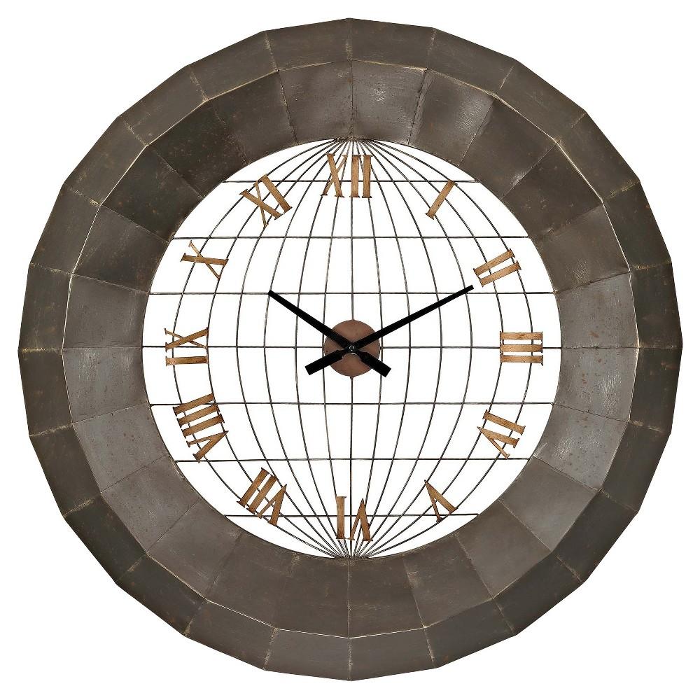 World Planisphere Wall Clock Bronze - Lazy Susan