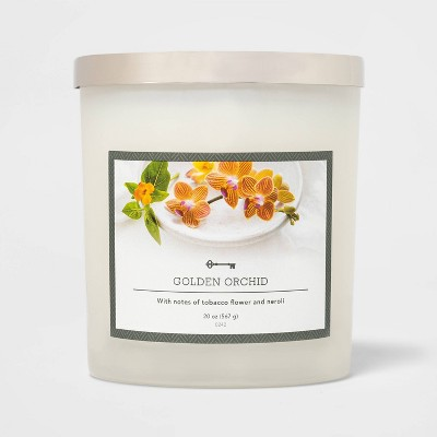 20oz Jar 3-Wick Golden Orchid Candle - Threshold™