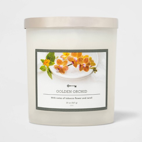 20oz Jar 3-Wick Golden Orchid Candle - Threshold™ - image 1 of 2
