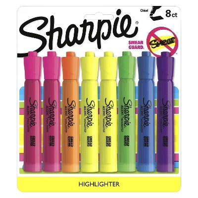 Sharpie® Accent Highlighter, Bold Tip, 8ct - Multicolor