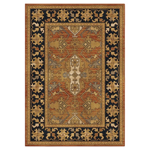 """Tan Solid Woven Area Rug - (5'3""""X7'6"""") - Orian - image 1 of 4"""