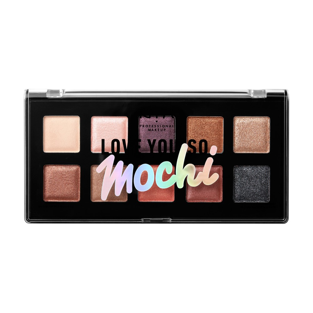 Nyx Professional Makeup Love You So Mochi Eyeshadow Palette Sleek And Chic - 0.47oz, Neutral Tones