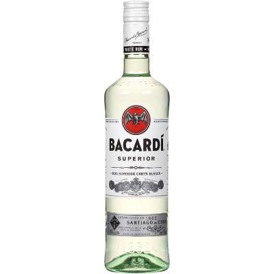 Bacardi Superior Light Puerto Rican Rum - 750ml Bottle