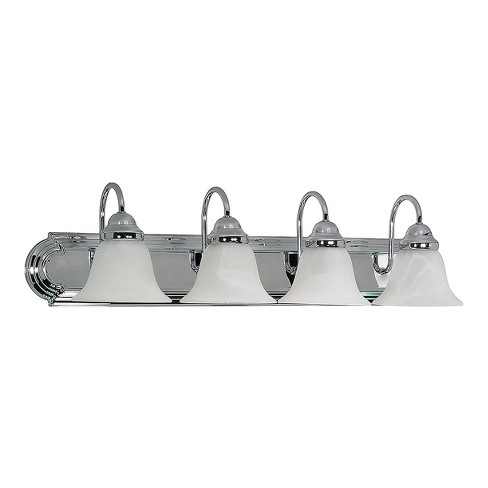 "Vanity Wall Lights 30"" with Alabaster Glass Bell Shades (Set of 4) - Z-Lite - image 1 of 1"
