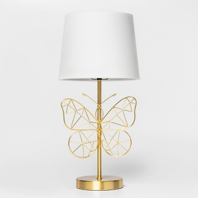 Butterfly Wire Table Lamp Gold Includes Energy Efficient Light Bulb - Pillowfort™