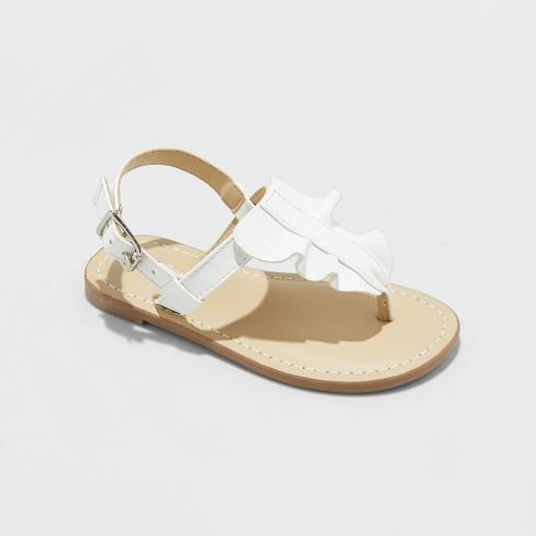 43f13ce0a6ce Toddler Girls  Naomi Ruffle Thong Sandals - Cat   Jack™ White 10   Target