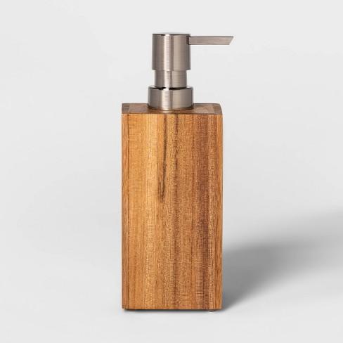 Medium Acacia Soap Pump Natural - Threshold™ - image 1 of 4