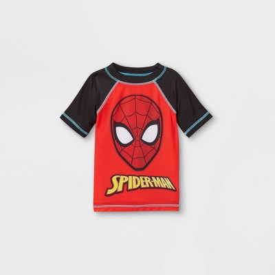 Toddler Boys' Spider-Man Rash Guard Swim Shirt - Red