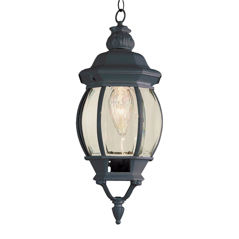 "Image of ""Italian Estate 20"""" Hanging Outdoor Lantern In Black"""