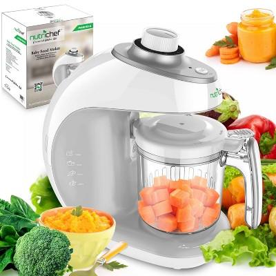 NutriChef Electric Dishwasher Safe 430W Baby Food Maker Puree Pulsing Food Processor and Smoothie Maker, Blender, and Steamer