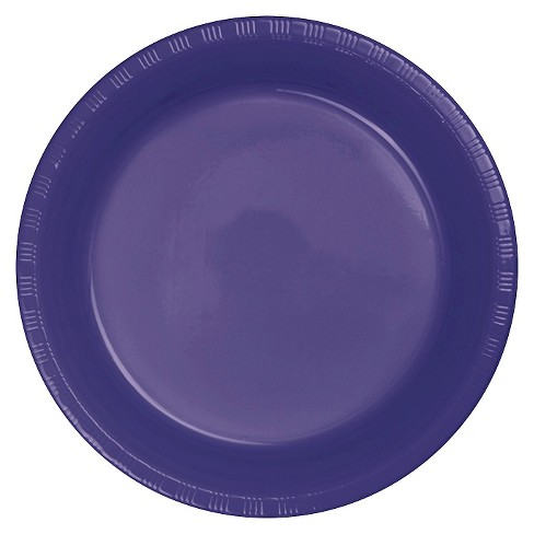 "Purple Plastic 7"" Dessert Plates - 20ct - image 1 of 1"