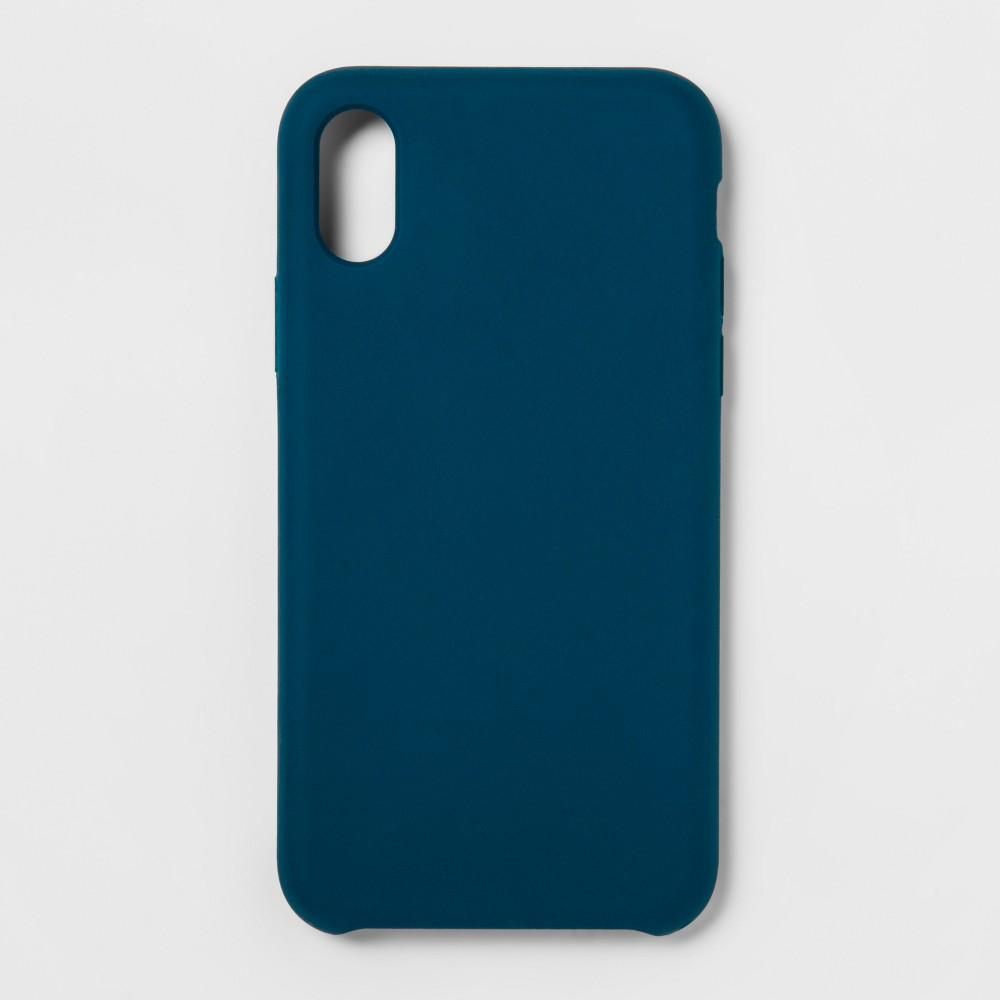 heyday Apple iPhone X/XS Silicone Case - Navy Blue, Dark Teal