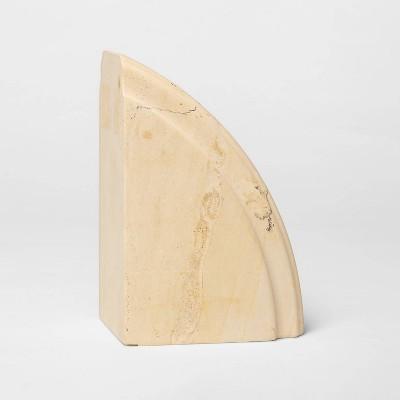 """6.1"""" x 4"""" Decorative Limestone Bookend - Threshold™"""