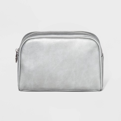 Women's Zip Wallet Wristlet - Wild Fable™ Silver - image 1 of 2