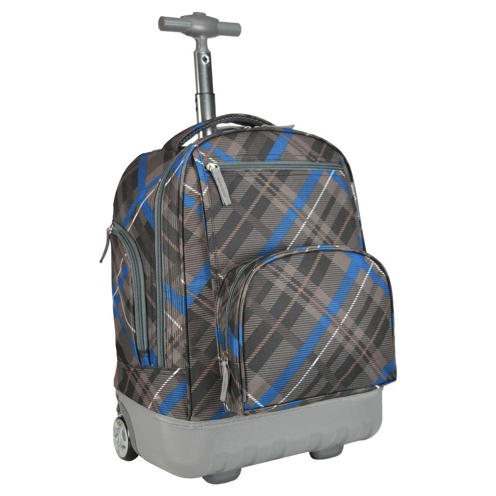 Pacific Gear Treasureland Hybrid Lightweight Rolling Backpack - Gray